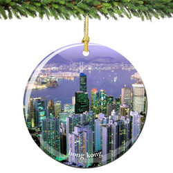Hong Kong Christmas Ornament Porcelain