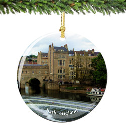Bath England Christmas Ornament Porcelain