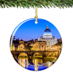 Vatican St Peters Christmas Ornament Porcelain