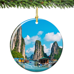Halong Bay Vietnam Christmas Ornament Porcelain