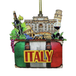 3D Italy Christmas Ornament