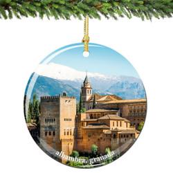 Spain Christmas Ornament of Alhambra Granada
