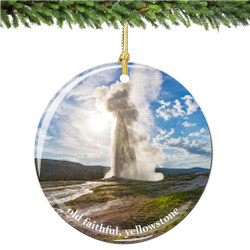 Old Faithful Christmas Ornament of Yellowstone National Park