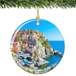 Cinque Terre Italian Christmas Ornament