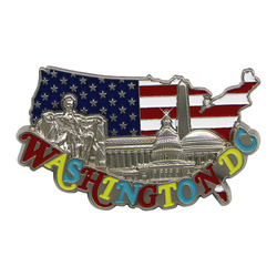 Metal Washington DC Magnet