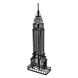 Black Empire State Building Wire Model