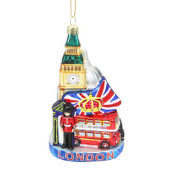 London Landmarks Glass Ornament
