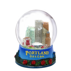65mm Portland, Oregon Snow Globe