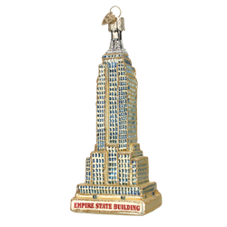 Gold Empire State Building Glass Ornament