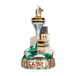 Seattle Landmarks Glass Ornament