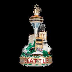 Seattle Landmarks Glass Ornament