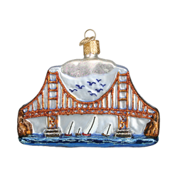 Golden Gate Bridge Glass Ornament