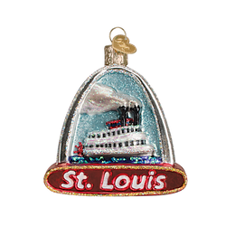 St Louis Arch and Landmarks Glass Ornament