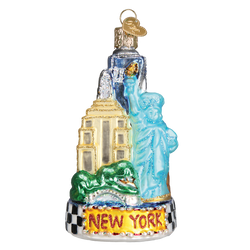 New York City Landmarks Glass Ornament