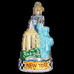 New York City Landmarks Glass Ornament
