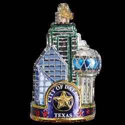 Dallas Landmarks Glass Ornament