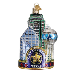 Dallas Landmarks Glass Ornament