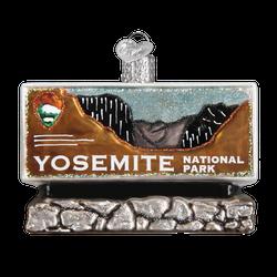 Yosemite National Park Glass Ornament