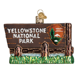 Yellowstone National Park Glass Ornament