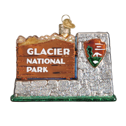 Glacier National Park Glass Ornament