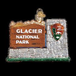 Glacier National Park Glass Ornament