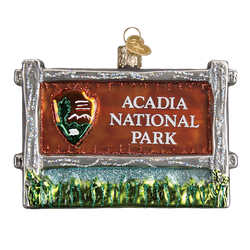 Acadia National Park Glass Ornament