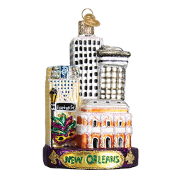 New Orleans Landmarks Glass Ornament
