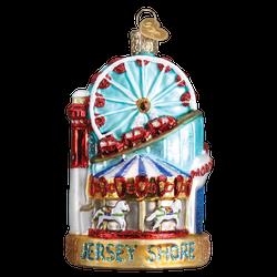 Jersey Shore Landmarks Glass Ornament