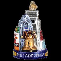 Philadelphia Landmarks Glass Ornament