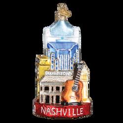Nashville Landmarks Glass Ornament