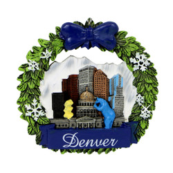 Denver Colorado Christmas Ornament Wreath