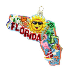 Florida Christmas Ornament Glass