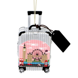 World Traveler London Suitcase Christmas Ornament