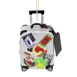 World Traveler Suitcase Christmas Ornament