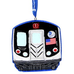 NYC Subway Car Christmas Ornament