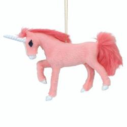 Pink Unicorn Christmas Ornament