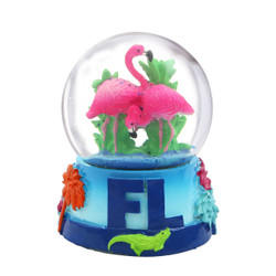 Florida Flamingo Snow Globe 3.5 Inches