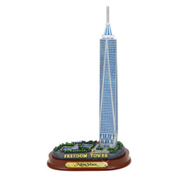 Freedom Tower Model with Wooden Base 6 Inches