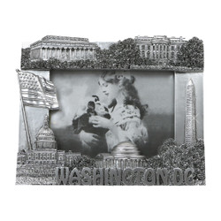 Silver Washington DC Frame for 3x5 Photos