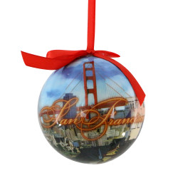 San Francisco Landmarks Ball Ornament