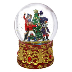 Lighted Nutcracker Musical Snow Globe 7 Inches