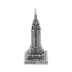 Mini Silver Empire State Building Statue 3 Inches