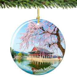 Seoul Christmas Ornament Porcelain Double Sided