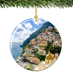 Amalfi Italy Christmas Ornament Porcelain Double Sided