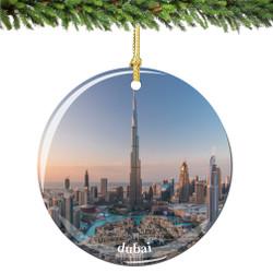 Dubai Christmas Ornament Porcelain Double Sided