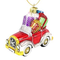 Christmas Car Glass Ornament