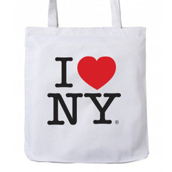 I Love NY Tote Bag White