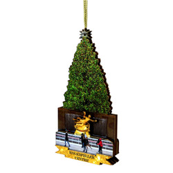 3D Rockefeller Center Ornament