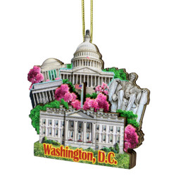 3D Washington DC Christmas Ornament