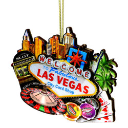 3D Las Vegas Christmas Ornament